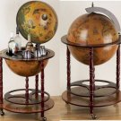 "HHGLB450/00: SALE-Kassel 17 1/2"" Diameter World Globe with Built-In Bar"