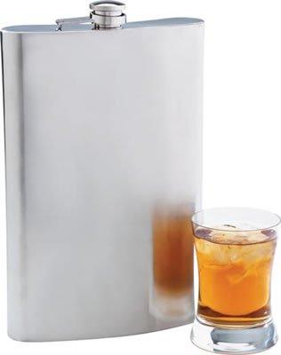KTFLASK64/00: Maxam 64 oz Jumbo Stainless Steel Flask