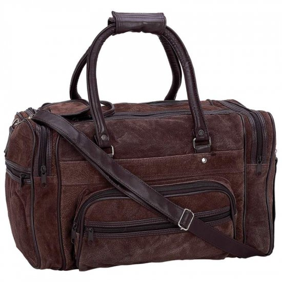 SMSTOTEBR/00: Maxam Brand Genuine Suede Leather Tote Bag - oos?