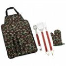 KTBQCAMO/00: CHEFMASTER 5 pc Camo BBQ Grill Tool Set - Great For Gifts