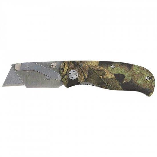 SARAZORCAM/00: Maxam Camouflage Liner Lock Razor Knife/Box Cutter  Buy 4, Get 1 FREE
