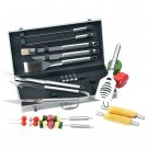 KTBQSS18/00: Chefmaster 18pc All Stainless Steel Barbecue Set - Great For Gifts