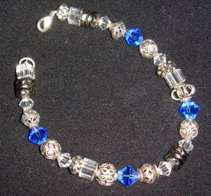 Bali silver & swarovski crystals...bracelet