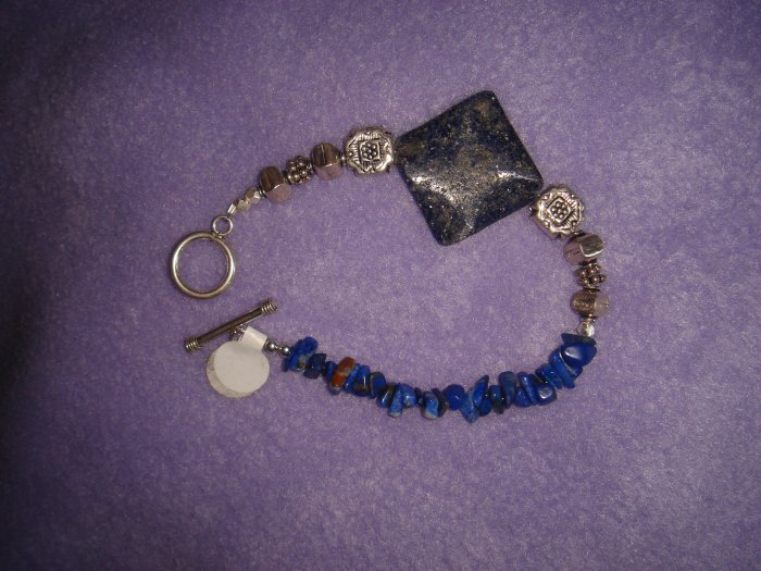 Blue Lapis bracelet with sterling silver