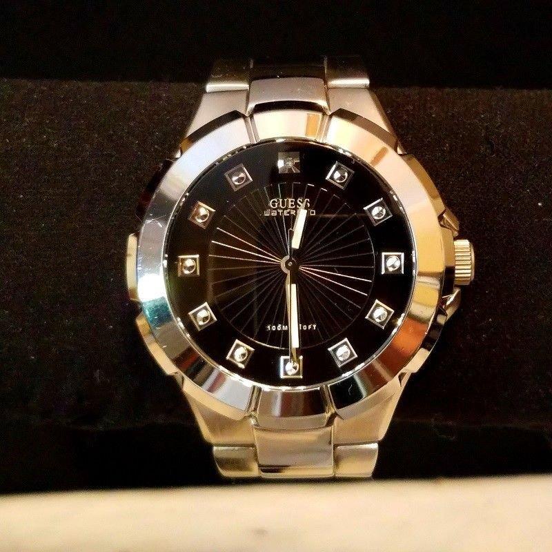 Excellent Men's Diamond Guess WaterPro Quartz Watch. Working Perfectly