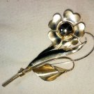 BEST TRUART STERLING Signed Calla Lily & Flower Vintage Estate Pin Brooch