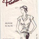 "50s Shawl Collar Blouse Sewing pattern Bust 34"" Beginners Sewing Pattern"