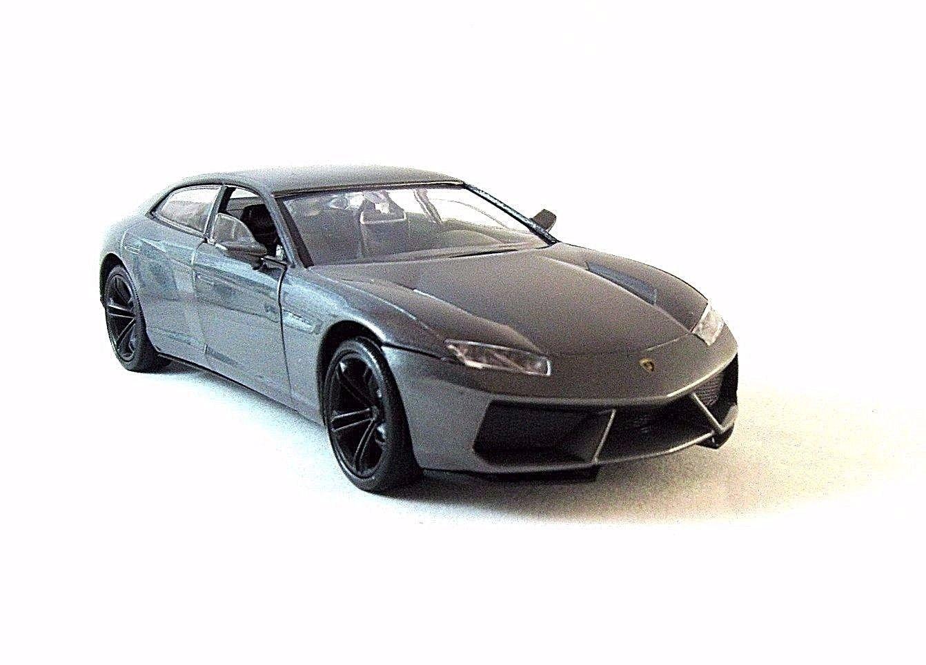 LAMBORGHINI ESTOQUE 2008 SILVER MONDOMOTORS 1/24 DIECAST CAR COLLECTOR'S MODEL