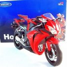 HONDA CBR 1000 RR RED WELLY 1:10 DIECAST MOTORCYCLE COLLECTOR'S  MODEL ,NEW