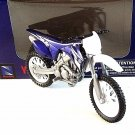 YAMAHA YZ 450F NEWRAY 1:18 BLUE DIECAST MOTORCYCLE COLLECTOR'S MODEL ,RARE,NEW