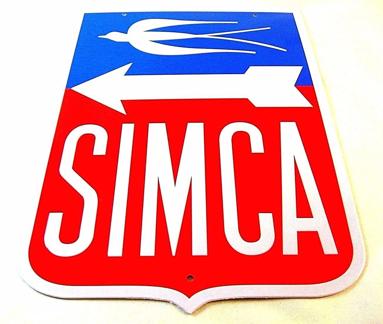 SIMCA ,VINTAGE METAL PLATE  DIORAMAX 1/1 ,CAR COLLECTOR'S ITEM, RARE , NEW