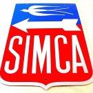 SIMCA ,VINTAGE METAL PLATE  DIORAMAX 1/1 ,CAR COLLECTOR'S ITEM, RARE , NEW