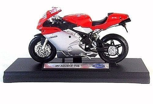 MV AGUSTA F4S, RED/SILVER WELLY 1/18 DIECAST MOTORCYCLE COLLECTOR'S MODEL, NEW