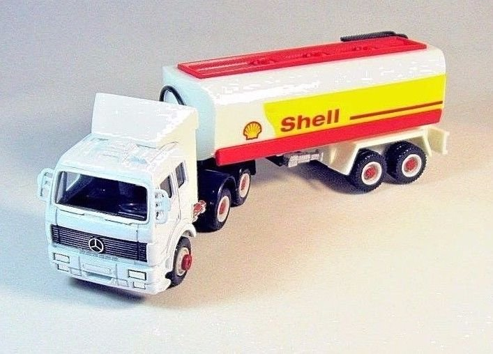 MERCEDES-BENZ TRUCK (SHELL GASOLINE), WELLY DIECAST CAR/TRUCK COLLECTOR'S MODEL