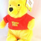"WALT DISNEY 10"" SOFT STUFFED FLOPPY POOH UV PLUSH DOLL- HIGH QUALITY, NEW"