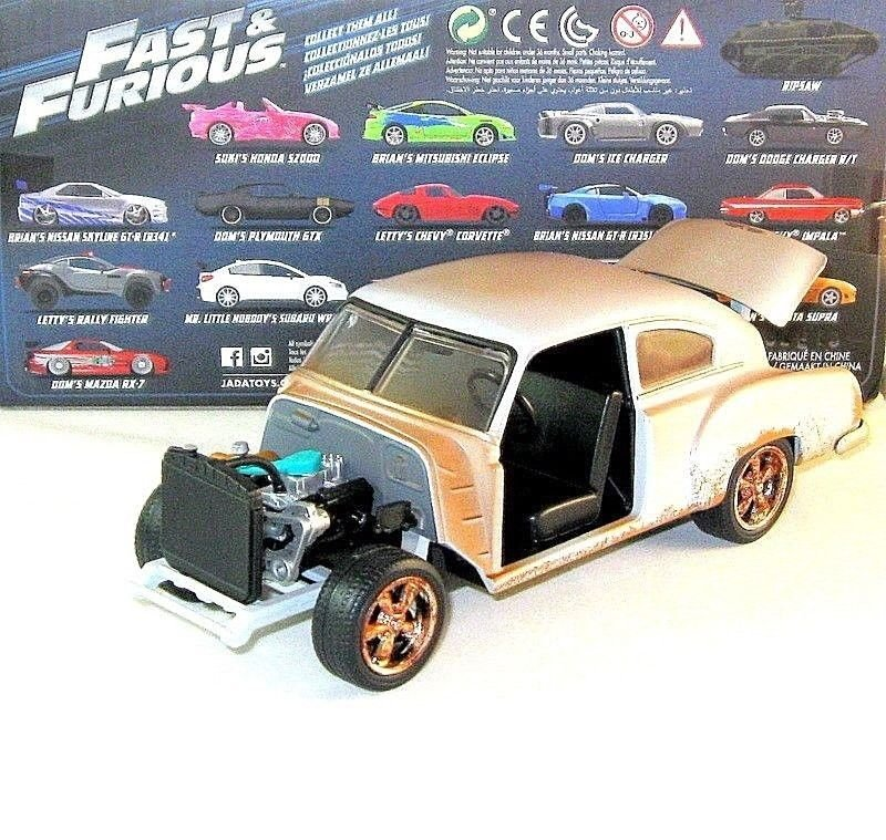 CHEVY FLEETLINE,FAST AND FURIOUS DOM'S CAR JADA 1:24 CAR COLLECTOR'S MODEL