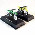 2 SET MOTORCYCLE KAWASAKI KX 250+SUZUKI RM 125 NEWRAY 1:32 COLLECTOR'S MODEL,NEW