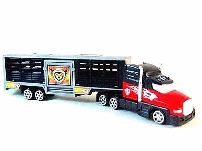 ANIMAL TRANSPORT TRUCK,BLACK/RED MOTORMAX DIECAST CAR/TRUCK COLLECTOR'S MODEL