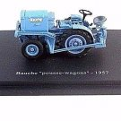 BAUCHE POUSSE WAGONS 1957,BLUE ALTAYA 1/43 DIECAST TRACTOR COLLECTOR'S MODEL,NEW