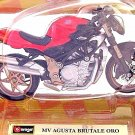 MV AGUSTA BRUTALE ORO ,BURAGO 1/18 DIECAST MOTORCYCLE COLLECTOR'S  MODEL , NEW