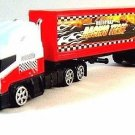 TRANSPORT TRUCK,WHITE/RED MOTORMAX DIECAST CAR/TRUCK COLLECTOR'S MODEL , NEW