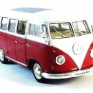 1963 VOLKSWAGEN T1 BUS , BORDEAUX WELLY 1/24 DIECAST CAR COLLECTOR'S MODEL  NEW