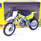SUZUKI RM-Z450 NEWRAY 1/18 YELLOW DIECAST MOTORCYCLE COLLECTOR'S MODEL,RARE,NEW