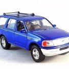 1998 FORD EXPEDITION METALLIC BLUE ,WELLY 1/32 DIECAST CAR COLLECTOR'S MODEL,NEW
