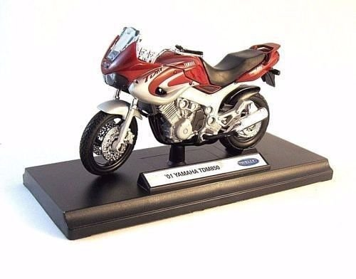 2001 YAMAHA TDM 850 WELLY DIECAST MOTORCYCLE COLLECTOR'S MODEL 1:18  , RARE ,NEW