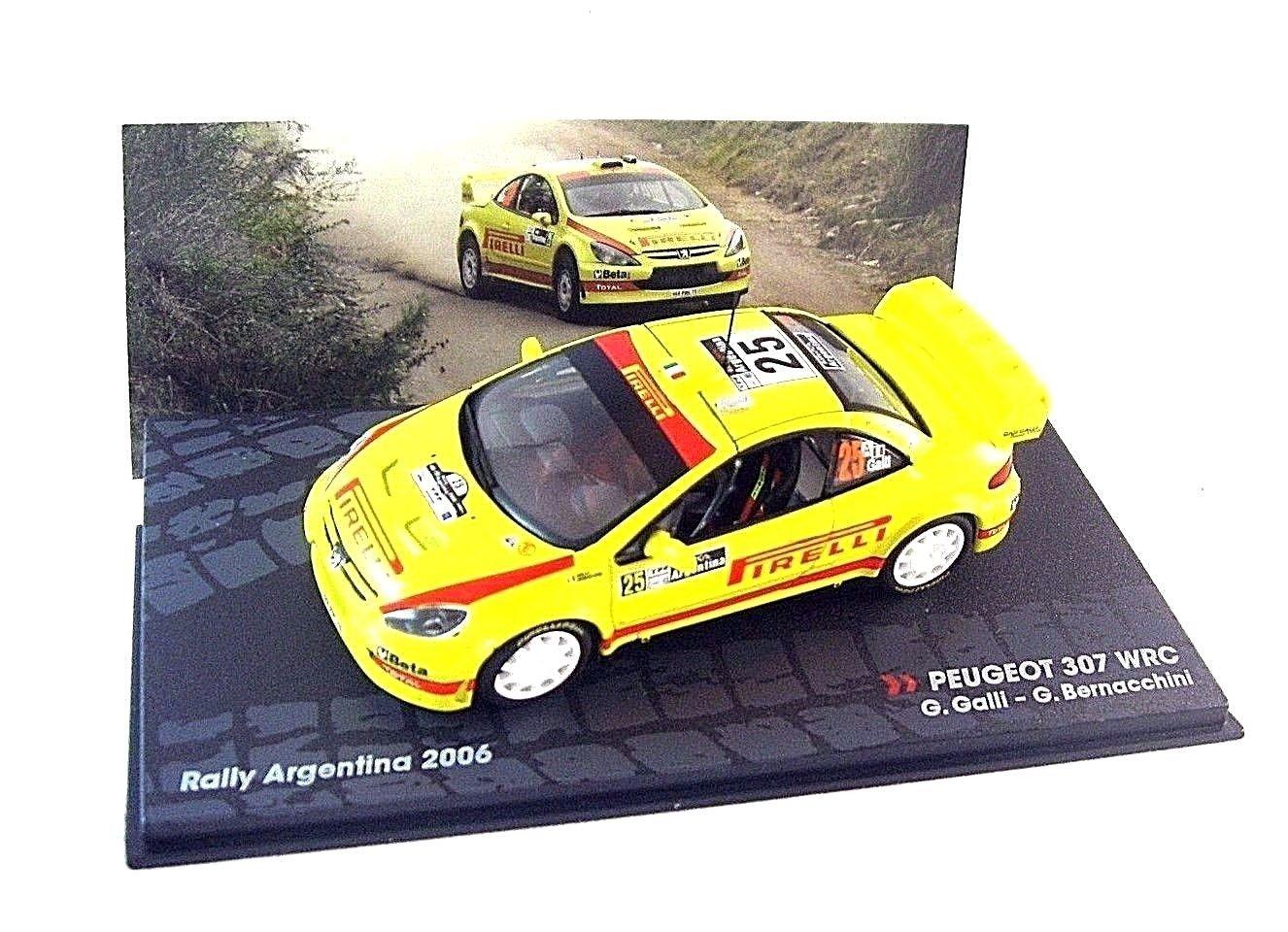 PEUGEOT 307 WRC#25, 2006 YELLOW ALTAYA 1/43 DIECAST CAR COLLECTOR'S MODEL, NEW