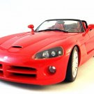 DODGE VIPER SRT10 ROADSTER 1:18 METALLIC RED,HOT WHEELS CAR COLLECTOR'S MODEL