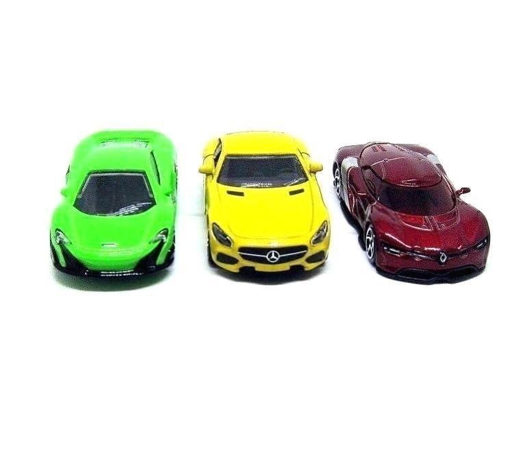 MAJORETTE STREET CARS, SET*3 DIECAST CAR MODELS,RENAULT/MERCEDES/McLAREN,NEW