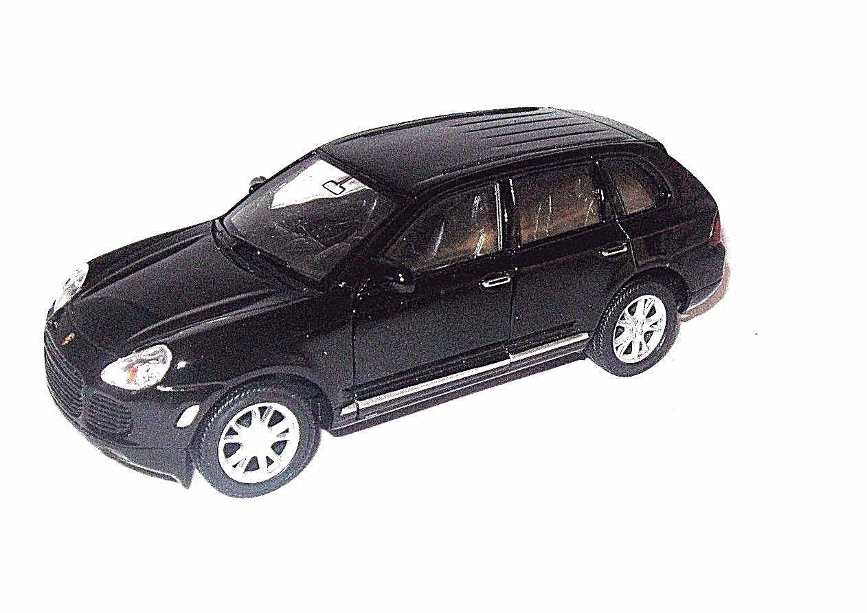 PORSCHE CAYENNE TURBO BLACK WELLY 1/32 DIECAST CAR COLLECTOR'S MODEL , NEW