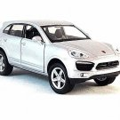 PORSCHE CAYENNE S(2)  SILVER NEWRAY 1/38 DIECAST CAR COLLECTOR'S MODEL, NEW