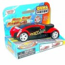 DYNA MOTOR, PULL BACK RACER RED/BLACK MOTORMAX DIECAST CAR COLLECTOR'S MODEL