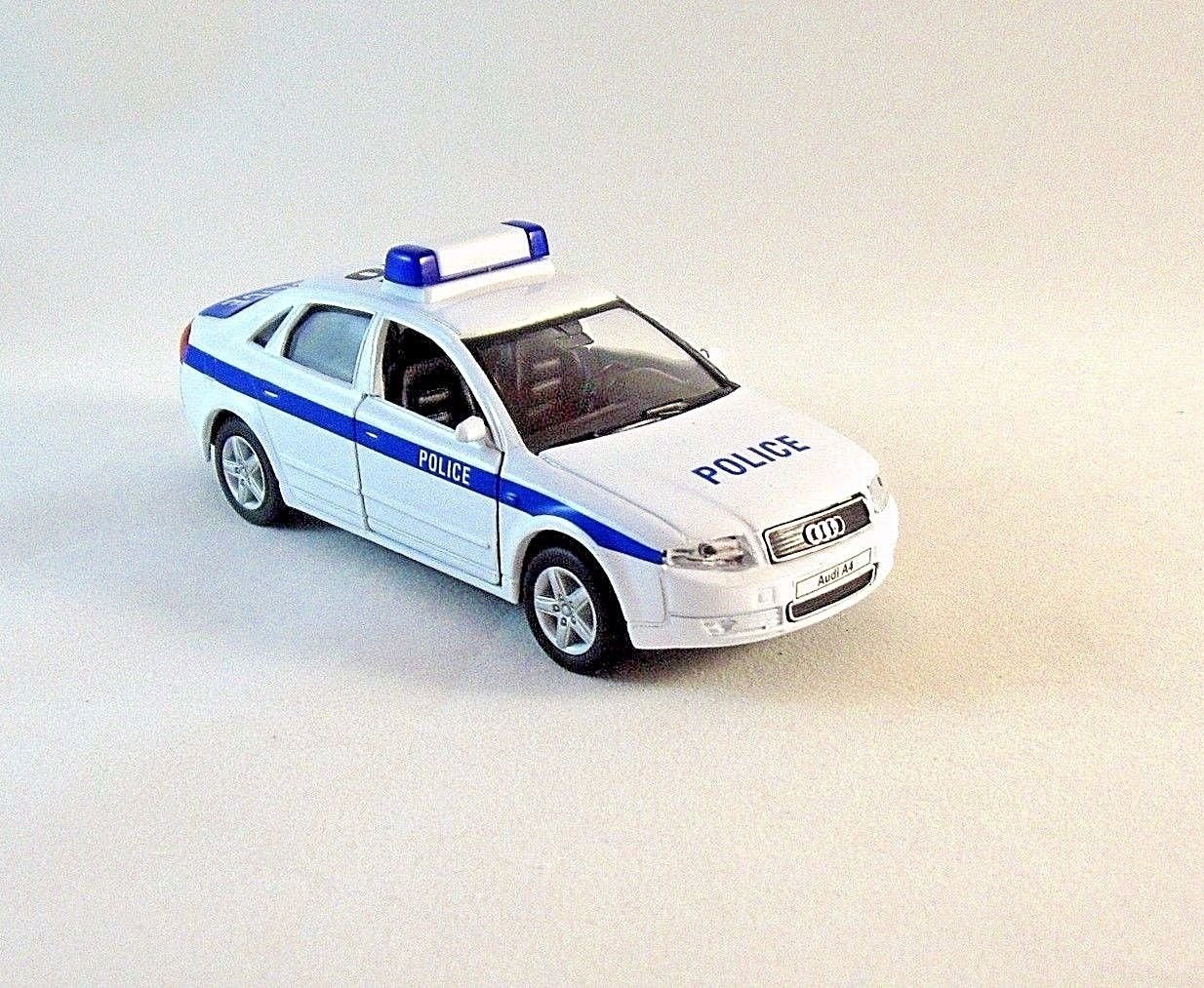 AUDI A4 POLICE CAR , WELLY 1/38 DIECAST CAR COLLECTOR'S MODEL, AUDI COLLECTION