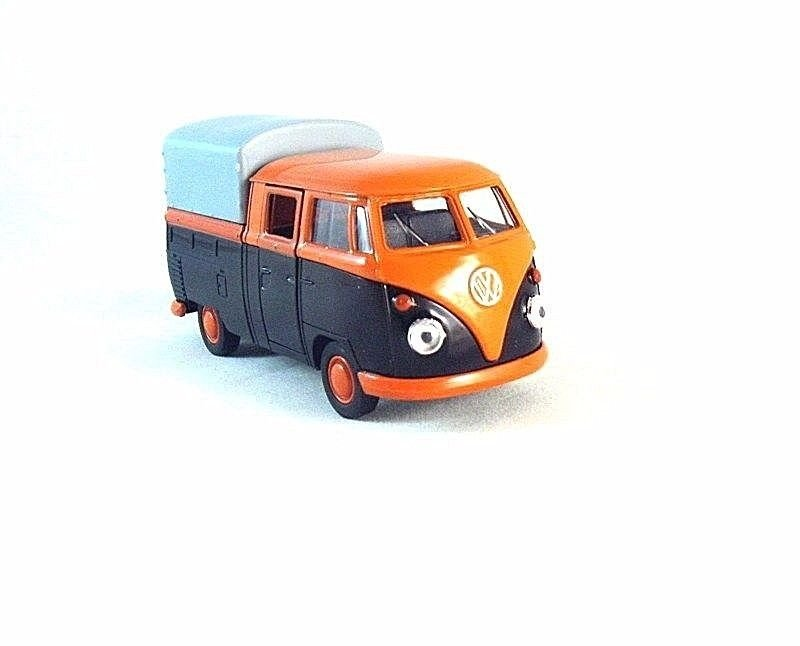 VOLKSWAGEN T1 DOUBLE CABIN PICK-UP  WELLY 1/38 DIECAST CAR COLLECTOR'S MODEL,NEW
