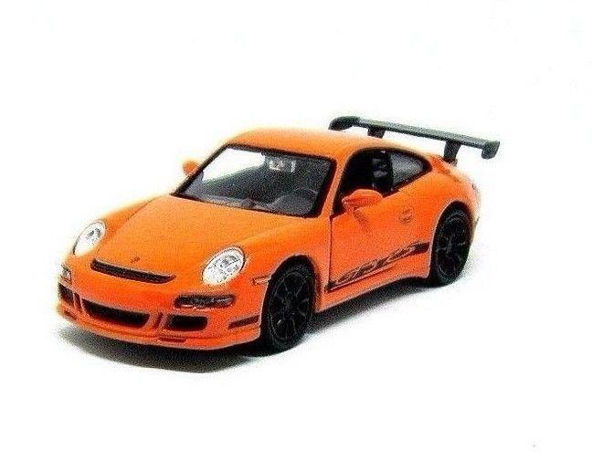 PORSCHE 911 (997)GT3 RS ORANGE WELLY 1:38  DIECAST CAR COLLECTOR'S MODEL, NEW