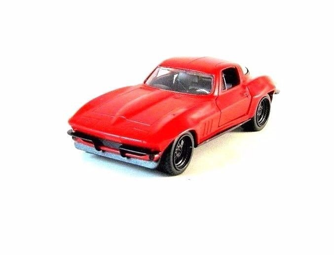 CHEVY CORVETTE, FAST AND FURIOUS RED JADA 1:32 DIECAST CAR COLLECTOR'S MODEL