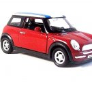 MINI COOPER - WELLY 1/38 BORDEAUX DIECAST CAR COLLECTOR'S MODEL,NEW