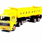 MERCEDES-BENZ TRUCK-HARD HATS, YELLOW WELLY DIECAST CAR/TRUCK COLLECTOR'S MODEL