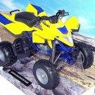 ATV SUZUKI QUADRACER R450 YELLOW NEWRAY 1:12 DIECAST ATV COLLECTOR'S MODEL, NEW
