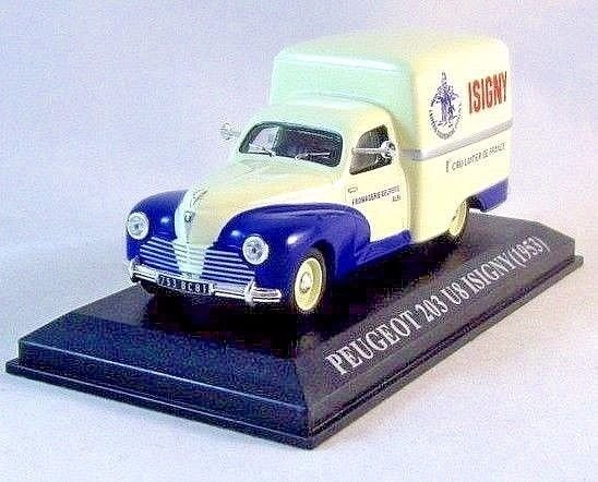 PEUGEOT 203 UB ISIGNY-1953 , ALTAYA 1/43 DIECAST CAR COLLECTOR'S MODEL, NEW