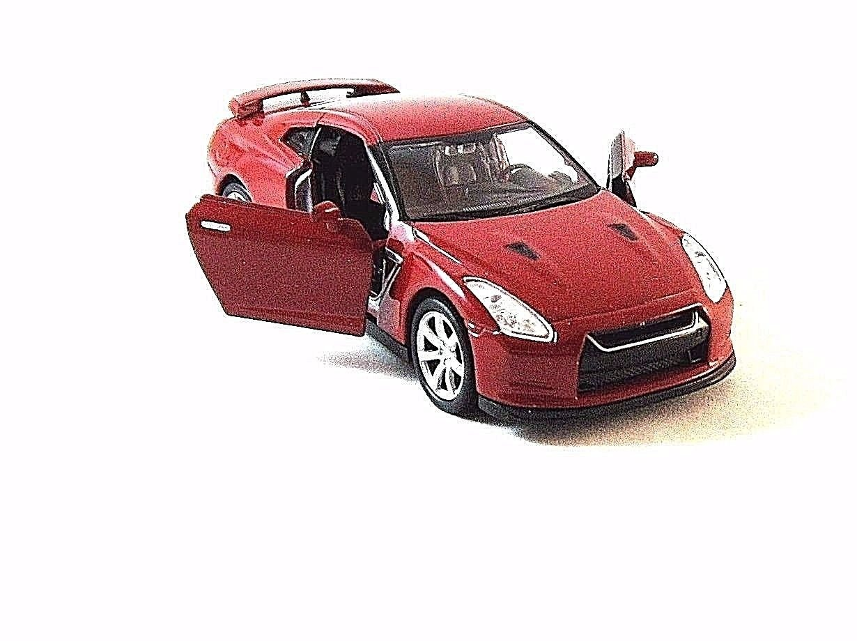 NISSAN GT-R RED WELLY 1/38 DIECAST SPORT CAR COLLECTOR'S MODEL,CAR MODEL ,NEW