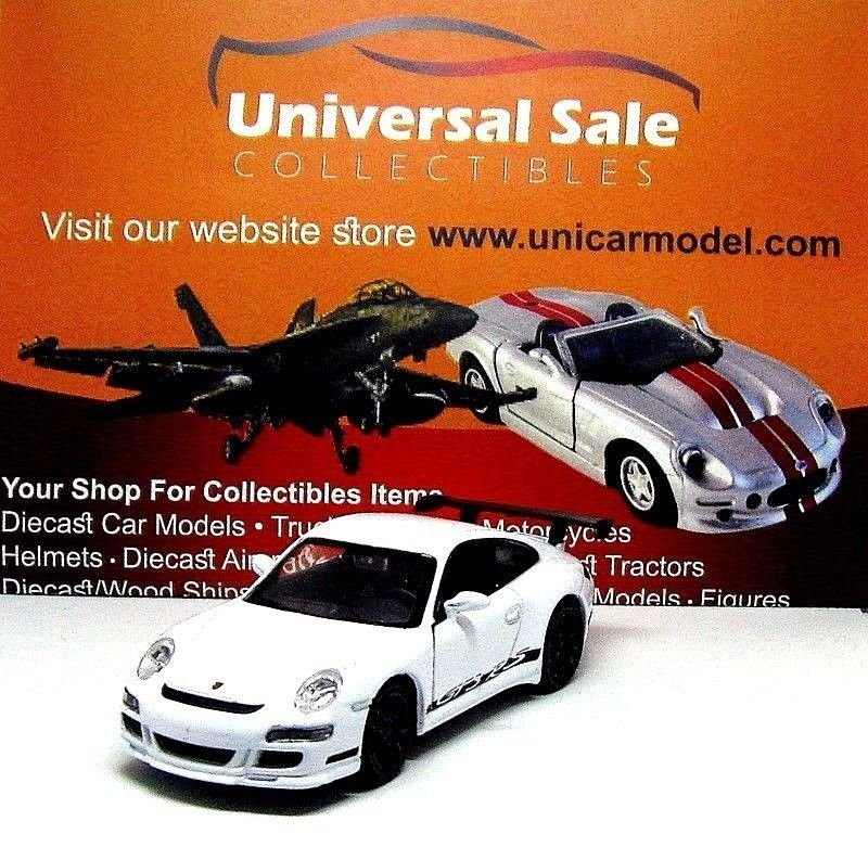 PORSCHE 911 (997) GT3 RS, WHITE WELLY 1:38  DIECAST CAR COLLECTOR'S MODEL, NEW
