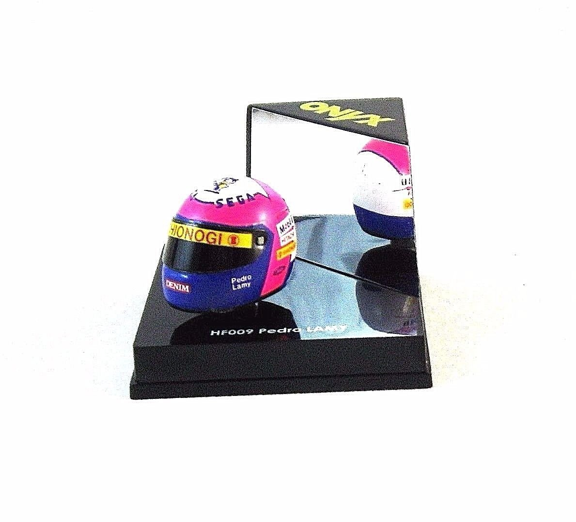 HELMET FORMULA 1 HF009 PEDRO LAMY,ONYX 1/12 DIECAST HELMET MODEL,COLLECTIBLE,NEW