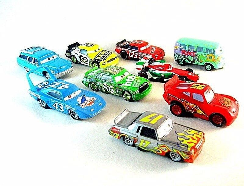 CARS SET*9 MATTEL DISNEY PIXAR CARS 1:55 DIECAST CAR COLLECTOR'S MODEL