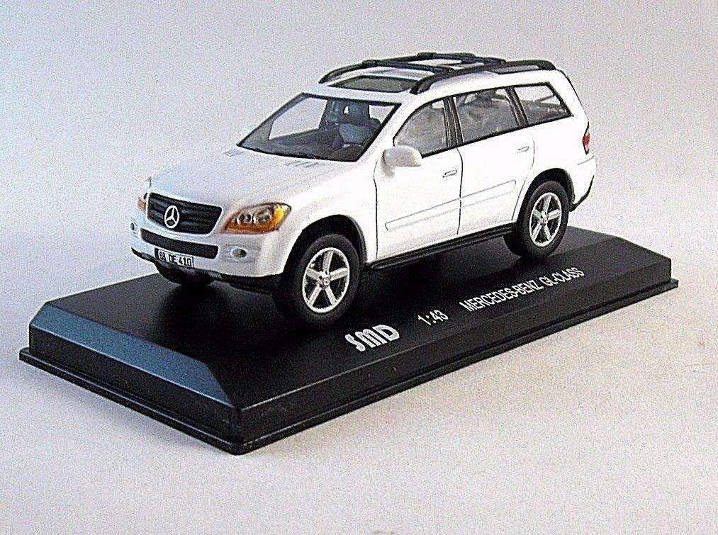 MERCEDES BENZ GL-CLASS 2007 WHITE HIGH-SPEED1/43 DIECAST CAR MODEL,WITH SHOWCASE
