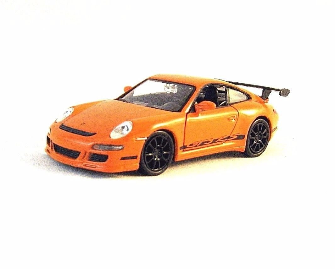 PORSCHE 911 (997) GT3 RS WELLY 1/34 ORANGE DIECAST CAR MODEL, PORSCHE COLLECTION
