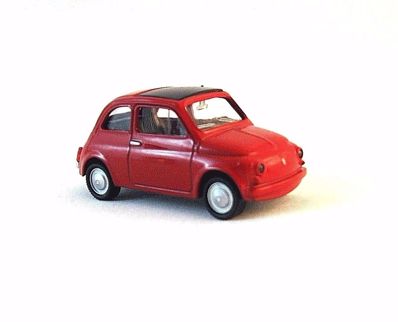 FIAT 500 RED MONDOMOTORS1/43 DIECAST CAR MODEL,OFFICIAL FIAT PRODUCT,COLLECTIBLE